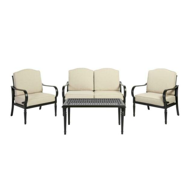 4 Piece Metal Patio Seating Set