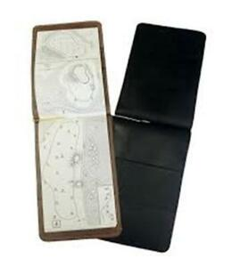 Full-Grain-Leather-Golf-Course-Yardage-Book-Holder-BLACK-ONLY