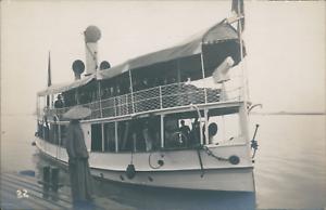 Indochine-President-et-delegation-sur-un-traversier-ca-1919-Vintage-silver-pr