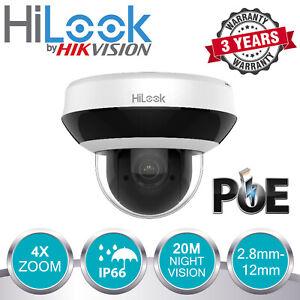 HIKVISION-4MP-IP-POE-CCTV-DOME-PTZ-CAMERA-INDOOR-OUTDOOR-4X-ZOOM-SHOP-OFFICE-UK