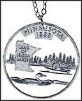 Minnesota Cut Out Coin Jewelry, Necklace