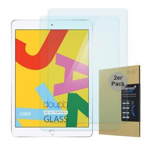 2x-9H-Hartglas-iPad-10-2-034-2019-HD-Display-Schutz-Panzer-Verbundglas-Klar-Folie