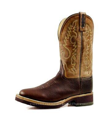 western Stivali in cognac piede nero gambale cuoio in suola