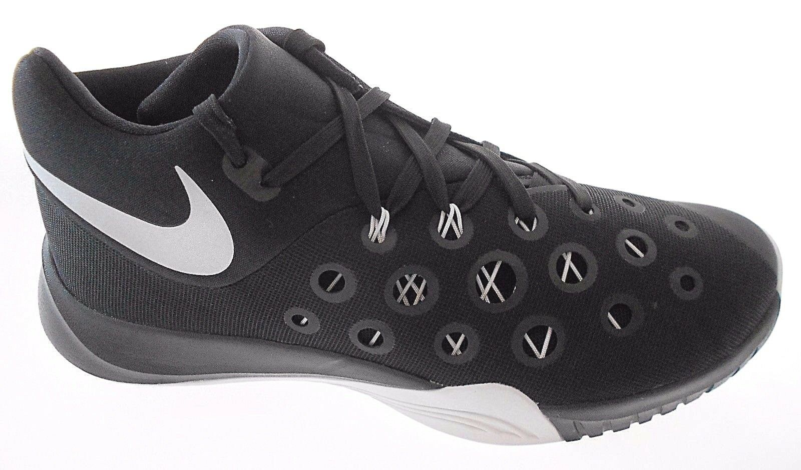 New shoes for men and women, limited time discount NIKE ZM HYPERQUICKNESS 2015 TB MEN'S BLACK BASKETBALL SHOES