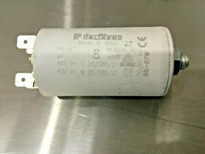 ITALFARAD RP-2 Single Phase AC Capacitor 8uF 400V/450V Motor Run Phase Converter