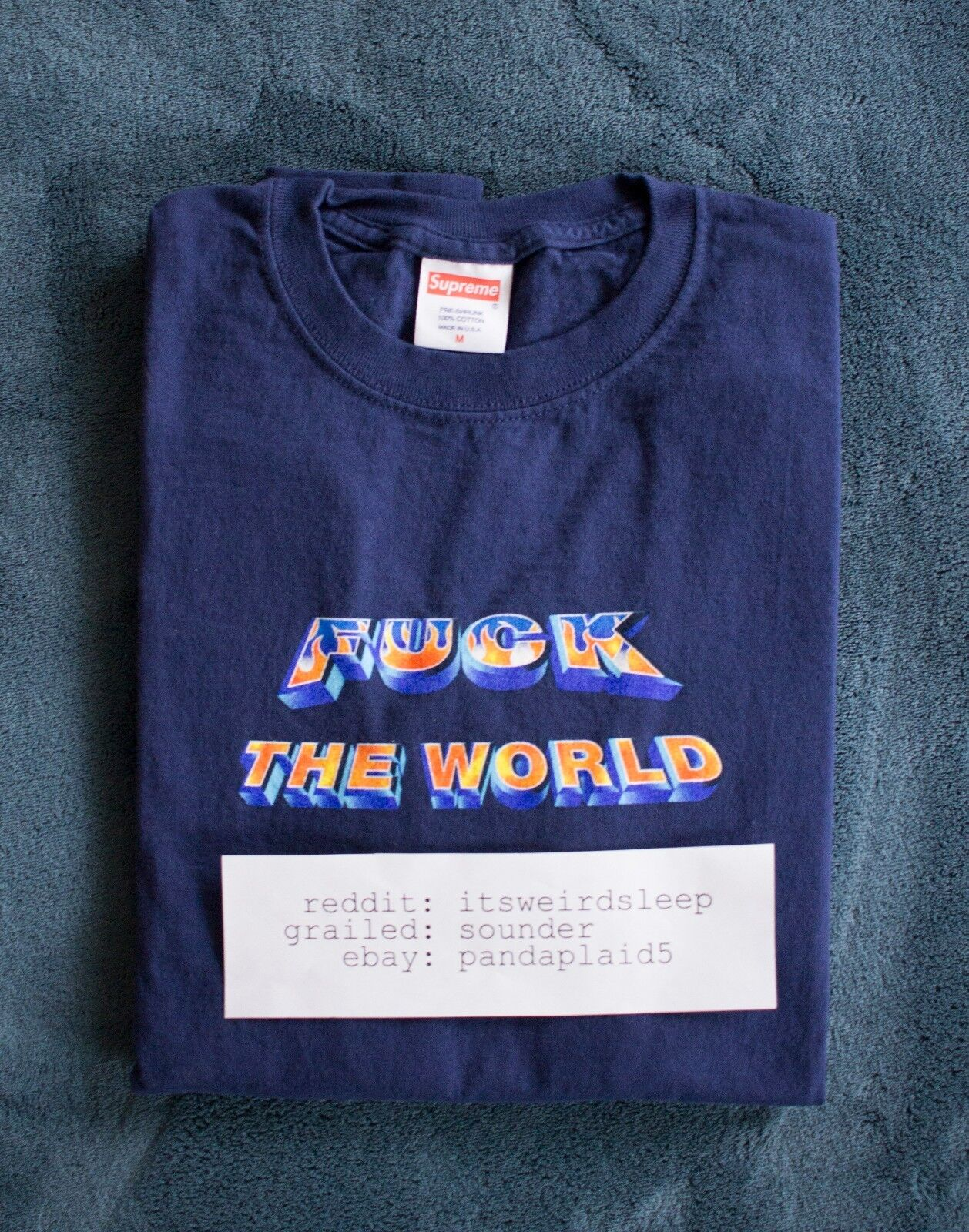 Supreme FTW LS Tee Navy Medium SS14