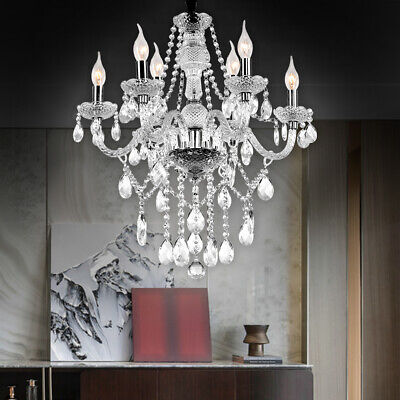 Lampadario cristallo Lampadario 6 bracci trasparente lampada ...