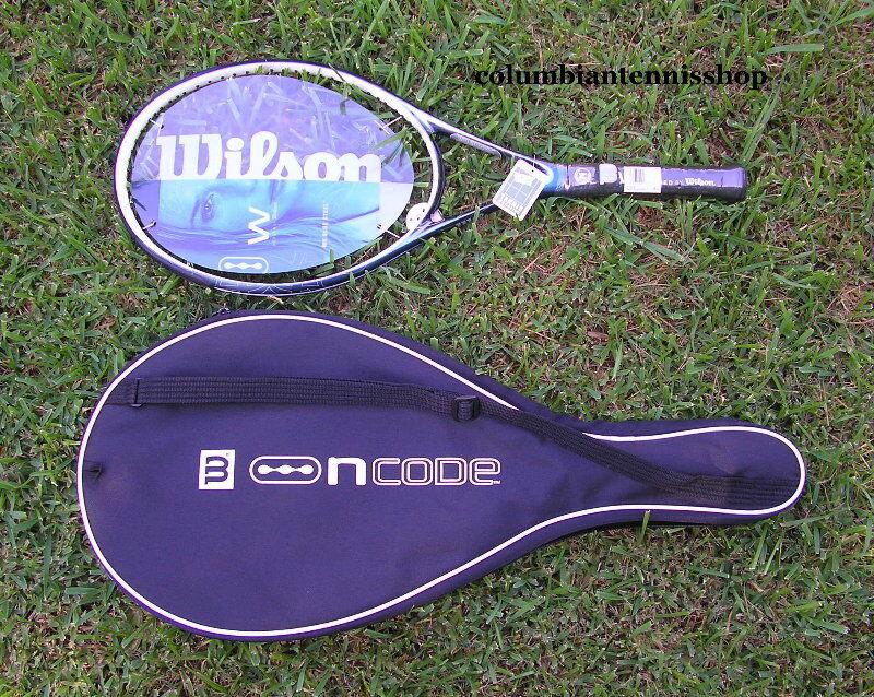 New Wilson Ncode W 6 bluee Steel W6 n code racquet+ case unstrung  1 2 3 4