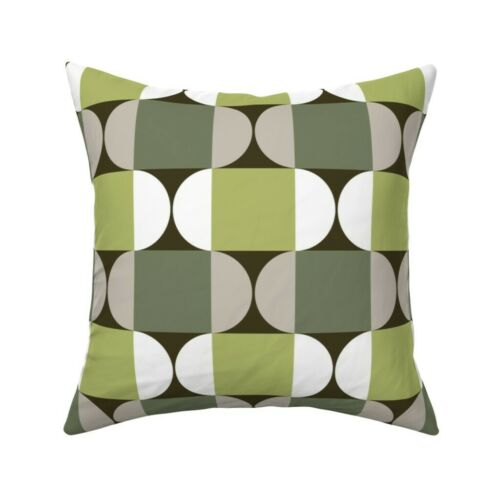 Scandinavian Retro Modern Mid Throw Pillow Cover w Optional Insert by Roostery