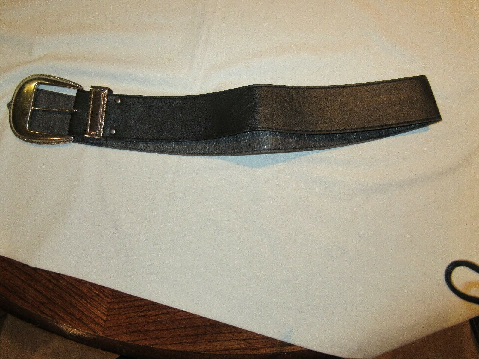 Belt , Women , Black Cloth Belt , 33""