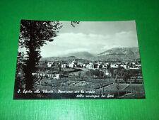 Cartolina Sant'Egidio alla Vibrata - Panorama con la montagna dei fiori 1955 ca