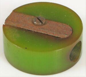 Vintage-Bachelite-Bella-Verde-Lime-Colore-Scrivania-o-Tasca-Temperino