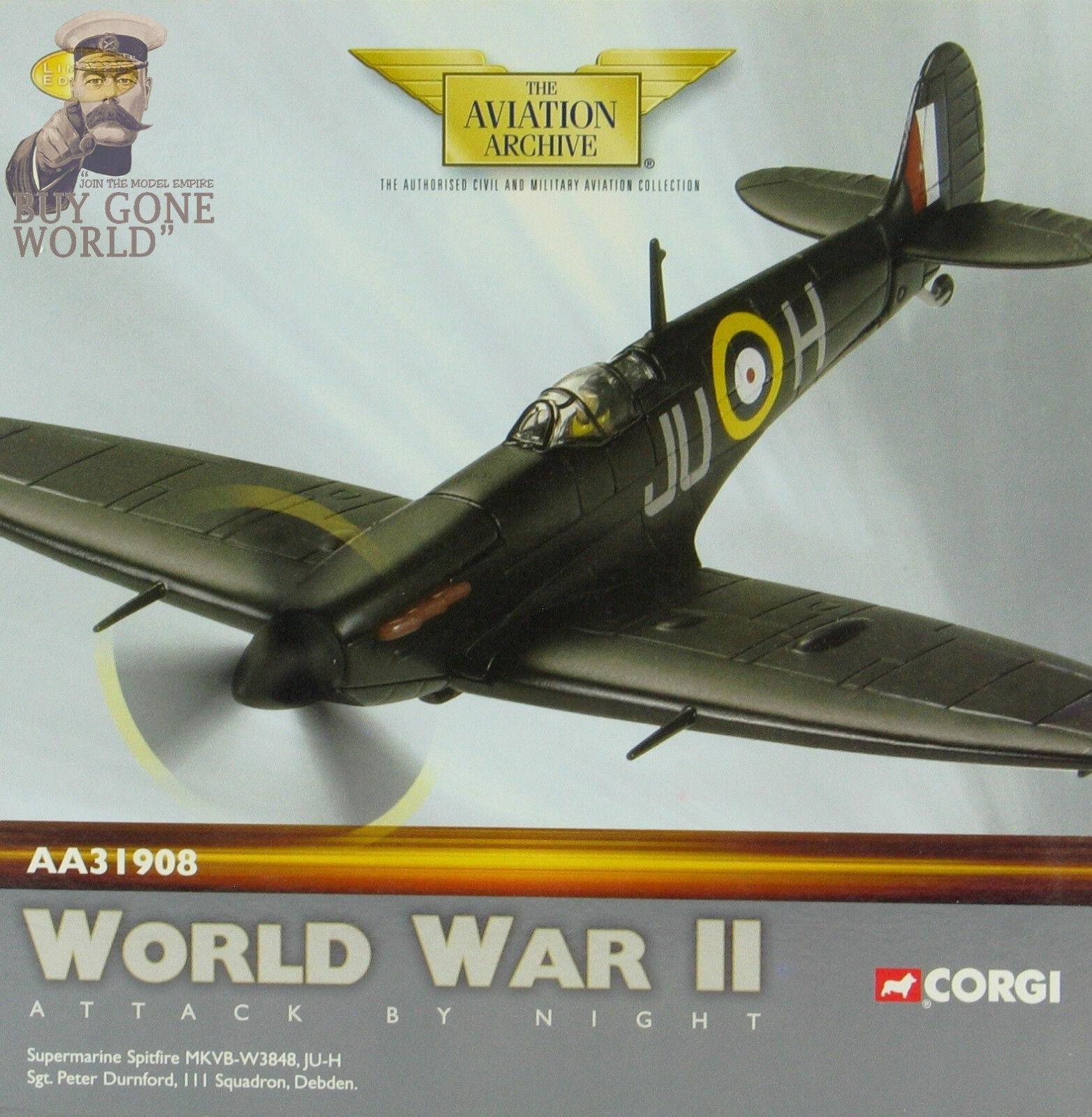 Corgi AA31908 Spitfire Mk V RAF No.111 Sqn Peter Durnford RAF Debden - 2863 3400