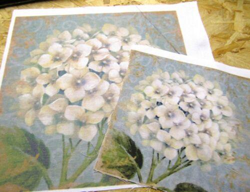Fabric  Panel Hydrangea Flower  ready Fabric Panel Quilting DIY Craft Panel
