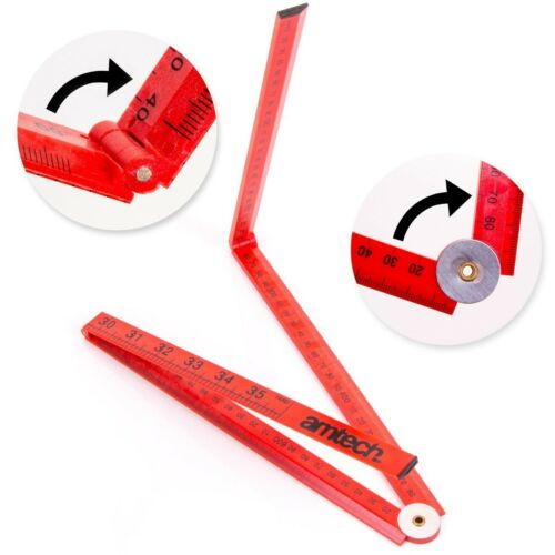 1 METER EXTENDING RULER Carpenter Builder Electrician Lightweight Measure Tool