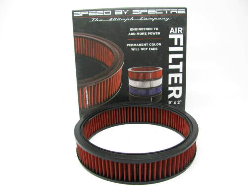"Spectre HPR2606 RED High Flow 9/""x2/"" Round Performance Air Filter Washable"