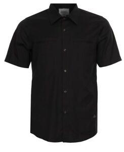 Vivienne-Westwood-Mans-Black-Short-Sleeve-Oxford-Shirt-Size-S-Bnwt-Rrp-120-00