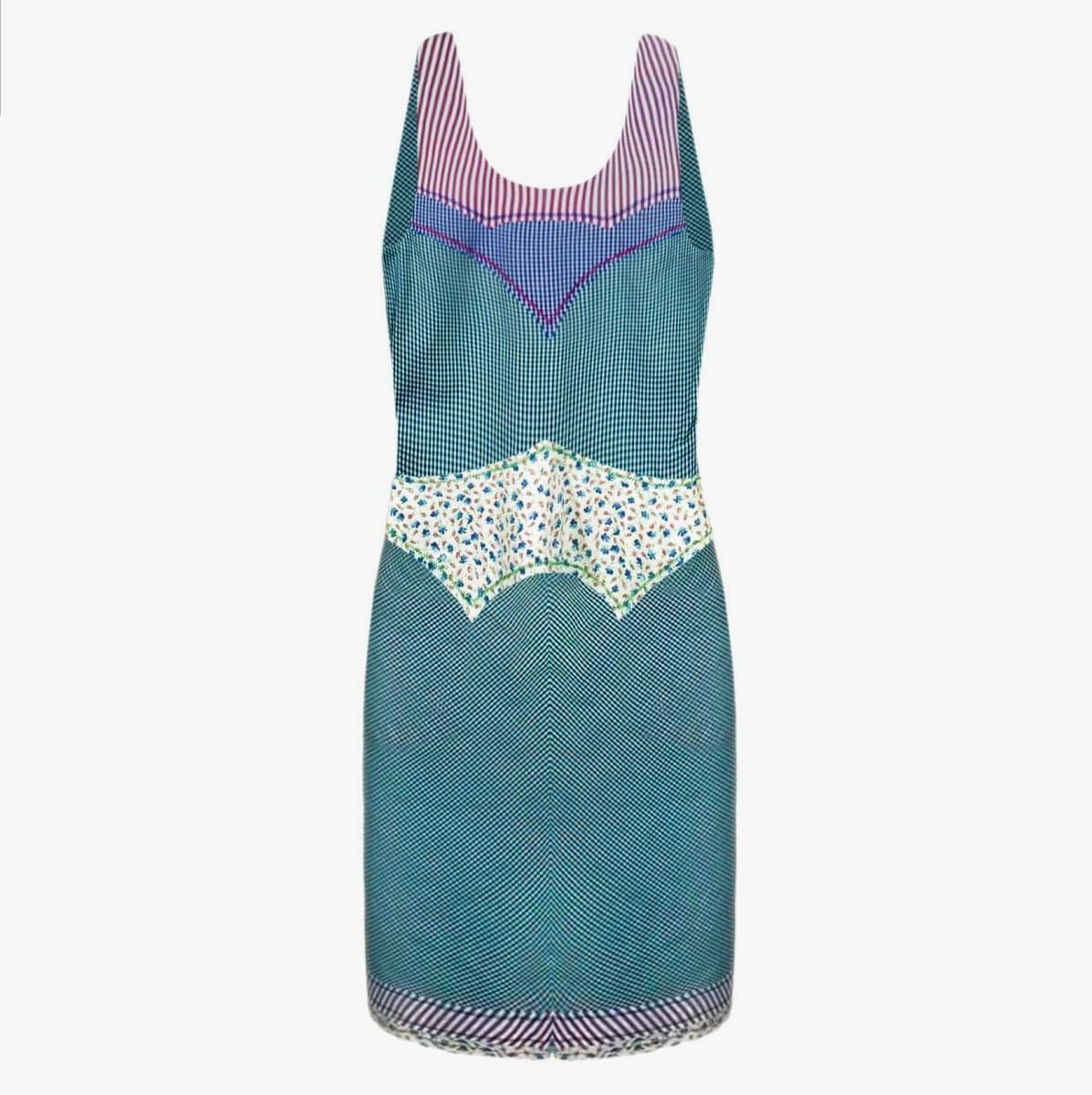 DSQUARED2 NEW Women Summer Summer Summer Dress Size S Womes Plaid Dress Green Sz 40 6 NWT 1500 9dfaef