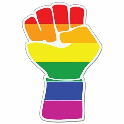 SELECT SIZE Gay Pride Clenched Fist Car Vinyl Sticker