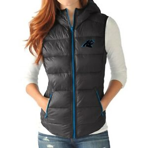 20eab40d Carolina Panthers Womens Full Zip Up Packable Vest Jacket by G-III ...
