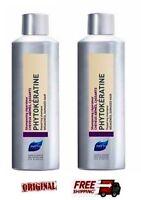 2 X Phyto Phytokeratine Shampoo For Damaged Hair 200ml