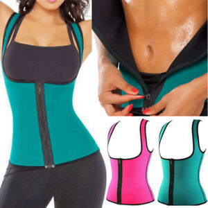 0eca1472f1 Image is loading ZIP-UP-Neoprene-Slimmer-Waist-Trainer-Cincher-Corset-