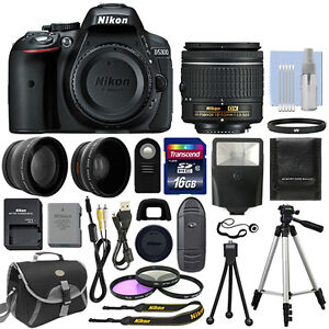 Nikon-D5300-Digital-SLR-Camera-3-Lens-Kit-18-55mm-Lens-16GB-Bundle