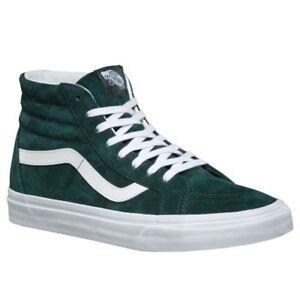 7592a52e5fde Vans UA SK8-hi Reissue Pig Suede Darkest Spruce Men New Skate Shoes ...