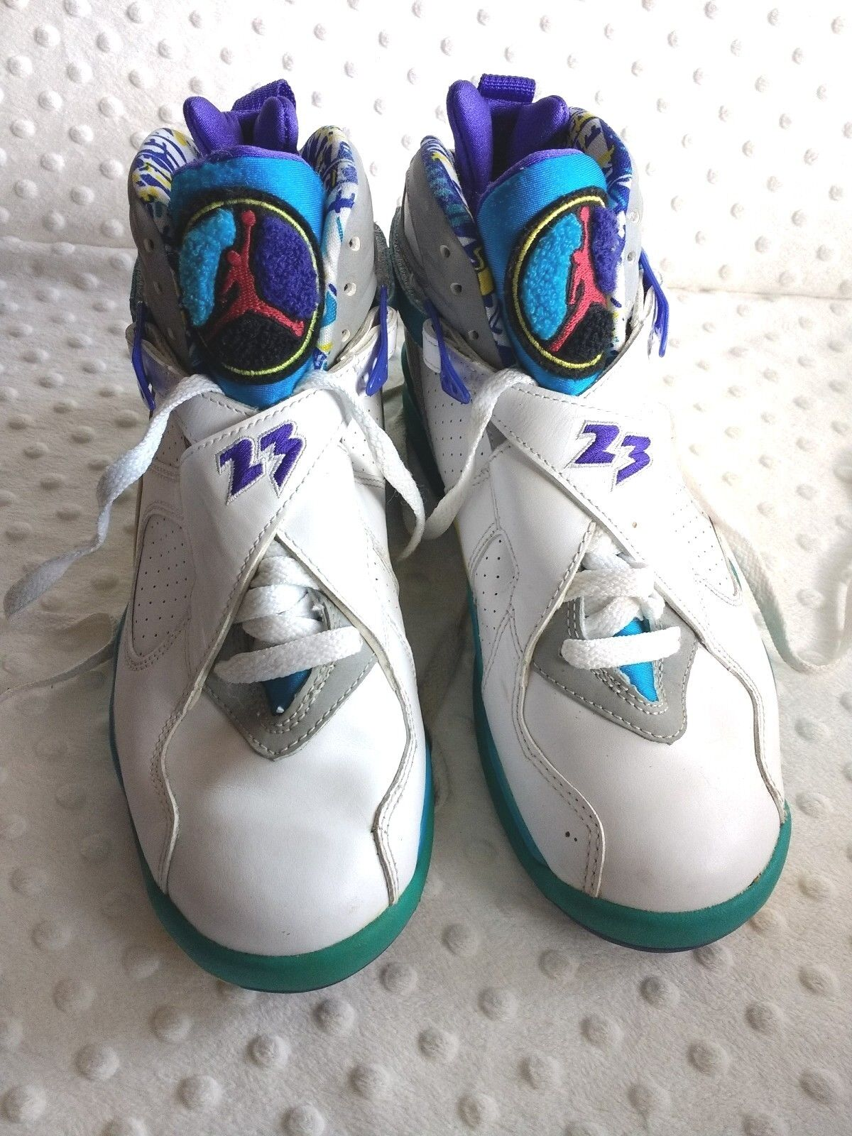 2007 nike air jordan viii retrò aqua sz basket rare le scarpe