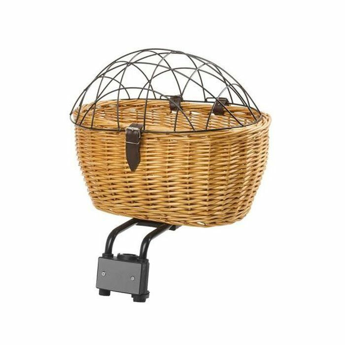 Wicker basket 2 in 1 with wire lid for pets M-Wave bike