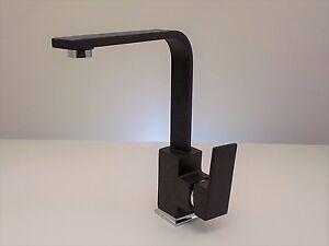 Details zu Hochdruck Armatur Küche Spüle Granit Schwarz Spültischarmatur  Anthrazit Eckig