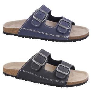 Softwaves 174 001 Pantolette Sandale Lederfussbett 2 Farben Gr.40-47 Den Speichel Auffrischen Und Bereichern