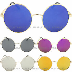 9b579761e27 Image is loading OVERSIZED-ROUND-SUNGLASSES-VINTAGE-LENNON-GLASSES-WOMENS -RETRO-