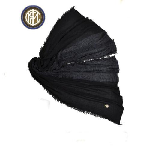 Inter Pashmina Enzo Castellano Men/'s Scarf Black 100/% Viscose 200x80 CM