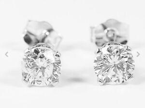 Boucles-d-039-oreilles-puces-Diamants-naturel-veritable-Or-blanc-18K-750-BO-0-25