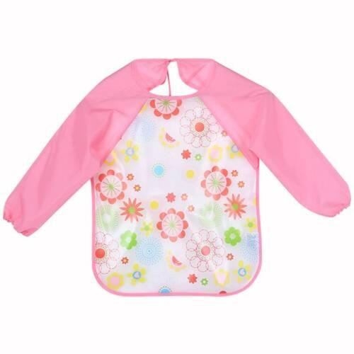 Baby Bibs Infant Cartoon Printed Long Sleeve Waterproof Coverall Baby SALE