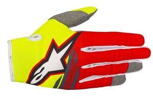 Guanti-Adulto-Alpinestars-Radar-Flight-Gloves-Giallo-Fluo-Rosso-Cross-Enduro