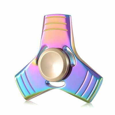 Rainbow Fidget Spinner Titanium Alloy Stress Relief EDC Focus Toy 2 Minutes Spin