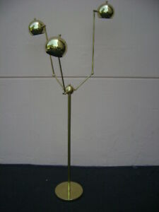 BRASS-BALL-Adjustable-FLOOR-LAMP-Light-STILNOVO-Mid-Century-ARTELUCE-Eames-DECO