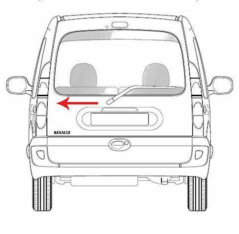 Pour Renault Kangoo Feu Arrière Feu Arrière Unique Hayon Type//côté gauche