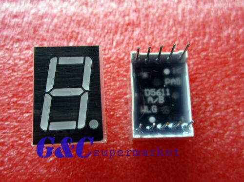 5PCS 0.56 inch 1 digit Blue Led display 7 segment Common cathode M46