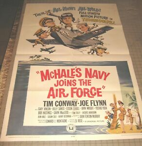 "1965 McHALE'S NAVY JOINS THE AIR FORCE 27"" x 41"" One Sheet Theater Poster"