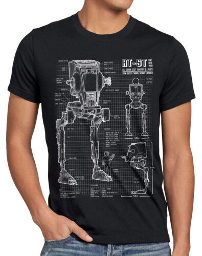 AT-ST Herren T-Shirt blaupause walker star krieg wars imperium der sterne vader