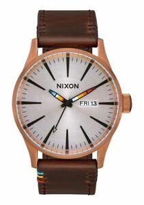 NIB-Nixon-Sentry-Leather-Copper-Brown-Serape-A105-3173