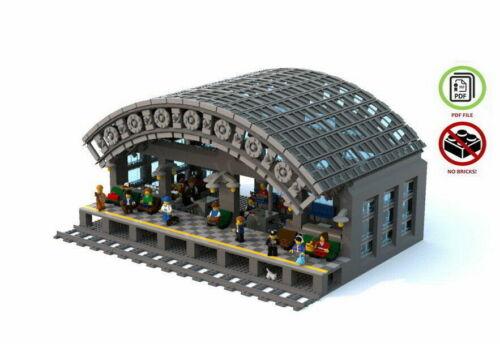 LEGO Costum Trainstation Building Instruction