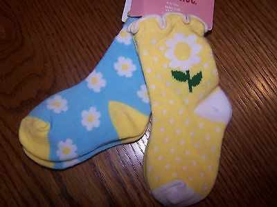 Gymboree A Pop of Daisies Girls Size 6-12 M Socks NEW