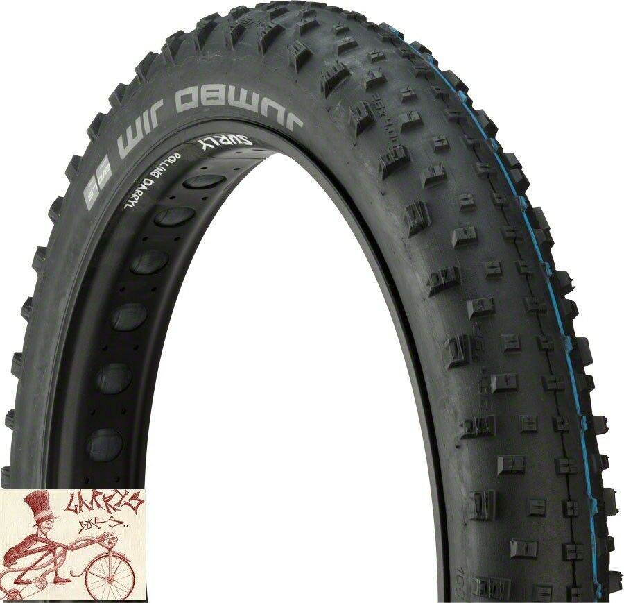 SCHWALBE JUMBO JIM SNAKESKIN EVO 26  X 4.8  TIRE W  ADDIX SPEEDGRIP COMPOUND