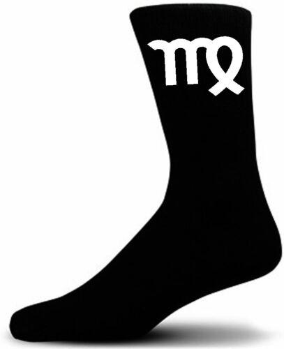 Great Zodiac Birthday Gift Simple Virgo Sign on Black Socks