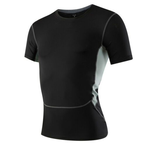 Men/'s Stretch Tops Fitness Running Training Sports Short Sleeve T-Shirt