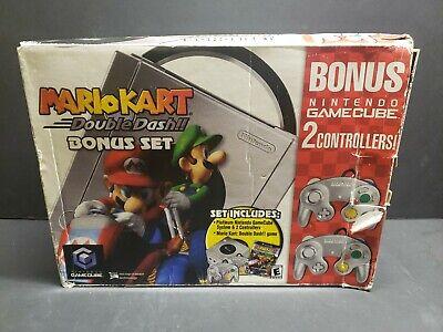 Nintendo Gamecube Platinum System Mario Kart Double Dash Bundle 45496941550 Ebay